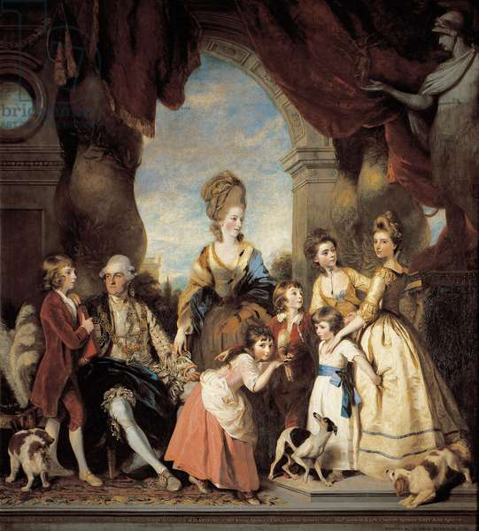 Portrait of the 4th Duke and Duchess of Marlborough and family, 1777-78 (oil on canvas)