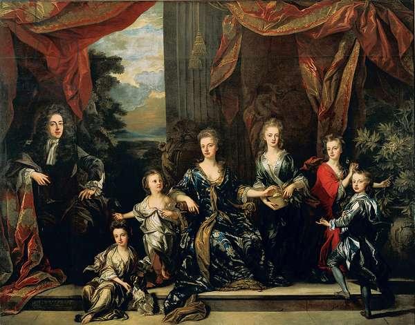 The Marlborough Family, 1697 (oil on canvas)
