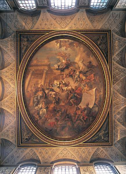 The Ceiling of the Great Hall, Blenheim Palace, Oxfordshire, UK(photo)
