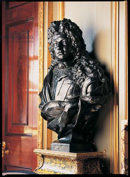 Bust of the 1st Duke of Marlborough on a Boulle pedestal (bronze)
