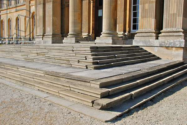 South Front Steps before restoration, Blenheim Palace, Oxfordshire (photo)