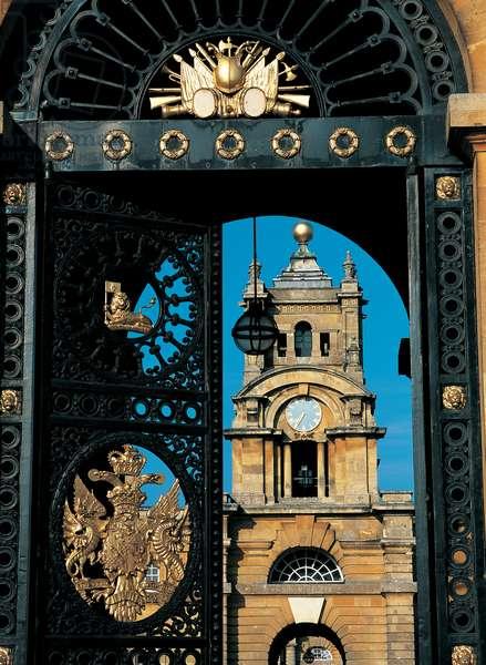 The Clock Tower seen through the East Gate, Blenheim Palace (photo)