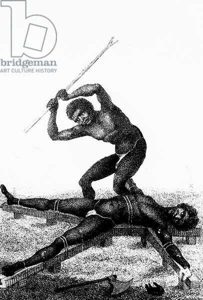 Repression in Surinam (engraving)