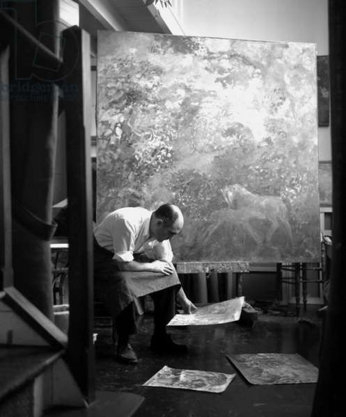 Pierre Garcia-Fons, 1967 (b/w photo)