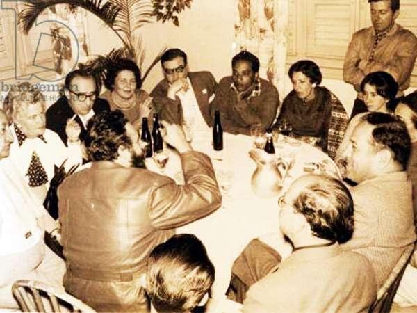 Writer Rene Depestre a la casa de las Americas CUBA