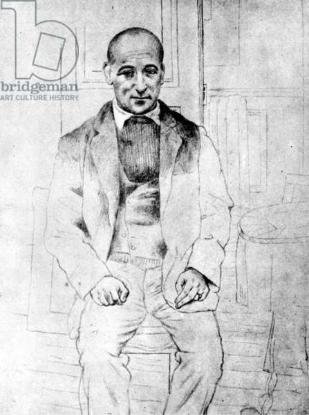 Max Jacob par Picasso, 1915