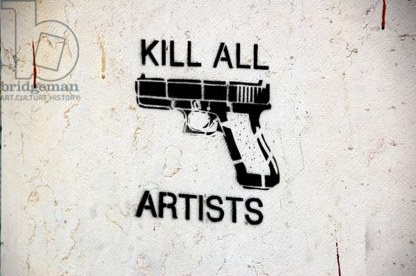 Kill all artists, 2007 (mural)