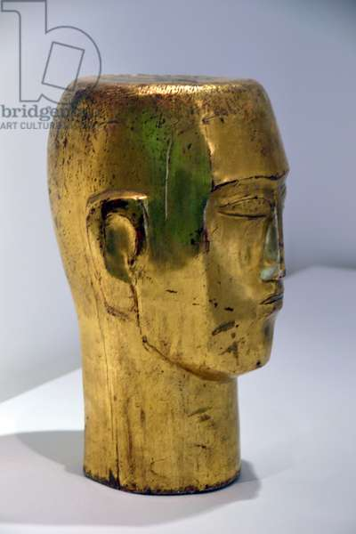 Head of a Man, c.1922 (gilded wood)