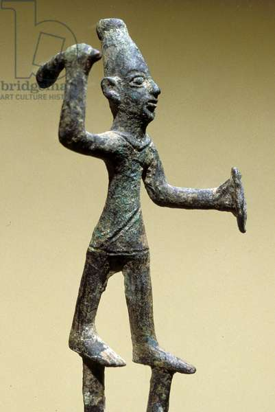 Figure of Baal, Canaanite (bronze)