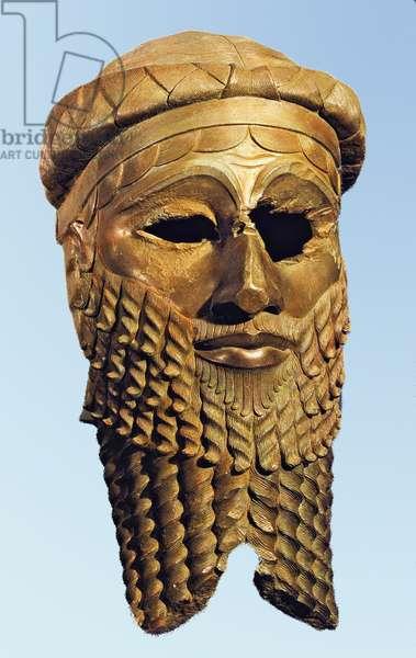 Bust of king Sargon of Akkad, Nineveh,  c.2300 BC (bronze)