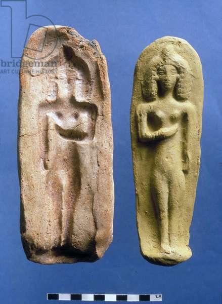 Figurine of a fertility goddess and the mould from which it was cast, c.8th- 7th century BC (clay)