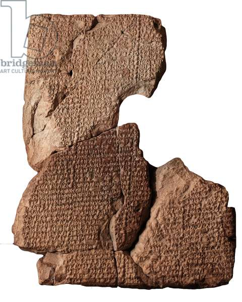 Cuneiform tablet with the Atrahasis Epic, from Sippar, southern Iraq (clay)