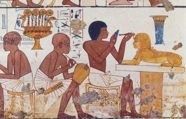 Scene from Craftsmen, Tomb of Nebamun and Ipuky, c.1390-49 BC (fresco)