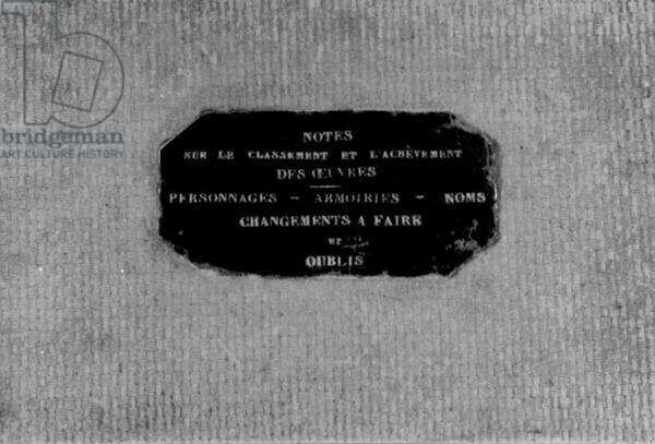 Label for 'Notes for the Filing and the Completion of My Works'