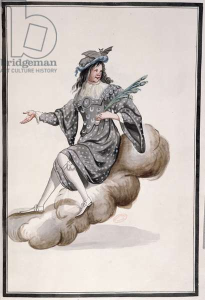 Costume for 'Night' for the 'Ballet de la Nuit' by Jean-Baptise Lully (1632-87) danced by Louis XIV, 23rd February 1653 (w/c on paper)