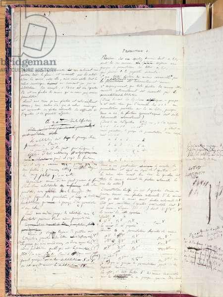 Ms 2108 Proposition I, from 'Memoire sur les Conditions de Resolubilite des Equations par Radicaux', 1732 (pen & ink on paper)