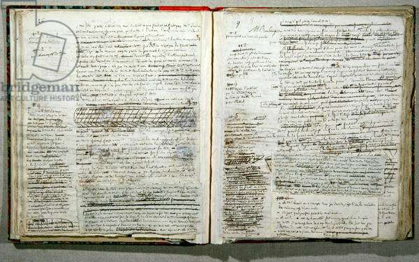 Pages 26 and 27 of the manuscript of 'Wann-Chlore', published anonymously in 1825 (pen & ink on paper)