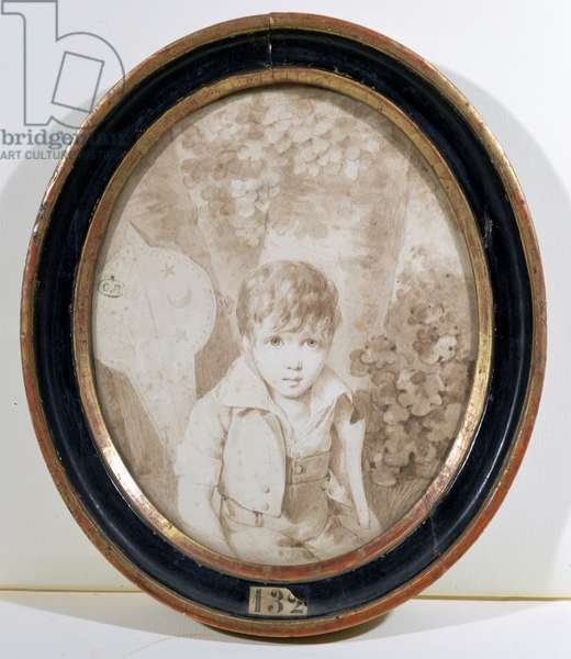Honore de Balzac (1799-1850) aged six, 1805 (pen & ink and wash on paper)