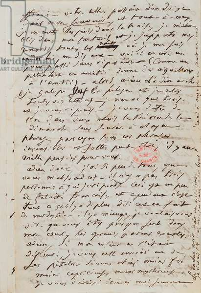 Papers and manuscripts of Balzac (pen & ink on paper)
