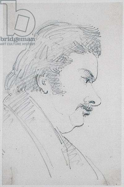 Portrait of Honore de Balzac (1799-1850) (pencil on paper)