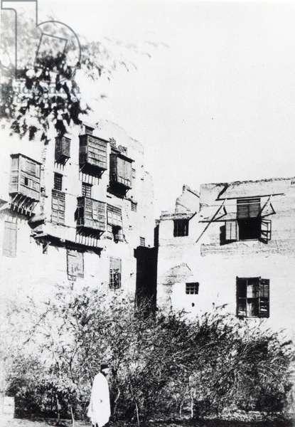 Gustave Flaubert (1821-80) in Cairo, 9th January 1850 (b/w photo)
