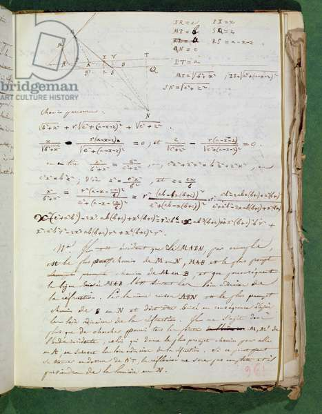 Ms 3412 Page of experimental notes, 1823 (pen & ink on paper)