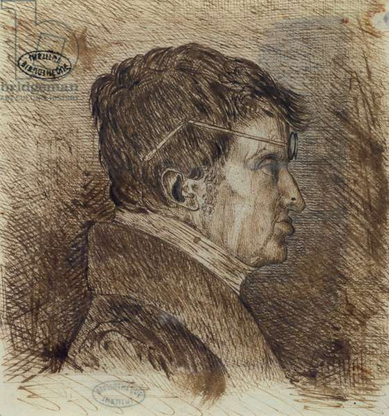 Self portrait (1775-1836), early 19th century (pen and ink on paper)
