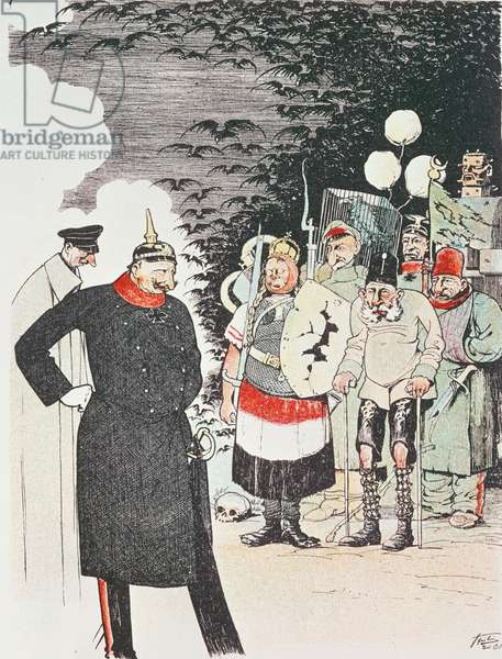 'Ah! what a pleasure it is for you to be my Soldiers!' illustration from 'La Revue Magazine' (colour litho)