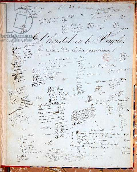 Title page of 'L'Hopital et le Peuple' (pen & ink on paper)