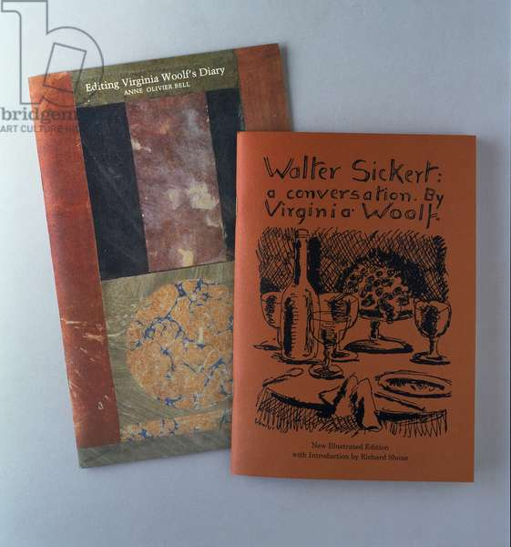 'Editing Virginia Woolf's Diary' by Anne Olivier Bell, cover design by Duncan Grant (1885-1978); 'Walter Sickert: a Conversation' by Virginia Woolf, cover design by Vanessa Bell (1879-1961)