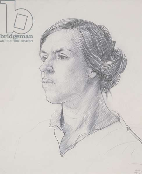 Head of a Young Woman, c.1914 (pencil on paper)