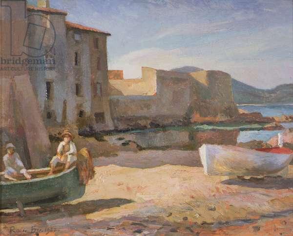 Le Petit Port, St Tropez, 1922 (oil on panel)