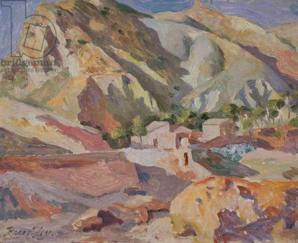 Near Murcia, Spain, 1933 (oil on panel)