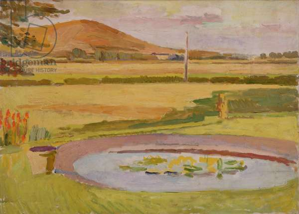 Pond in the Garden, Monk's House, Rodmell, c.1935 (oil on canvas)