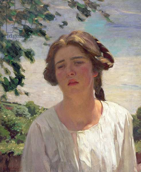 The Cornish Maiden, c.1910 (oil on canvas)