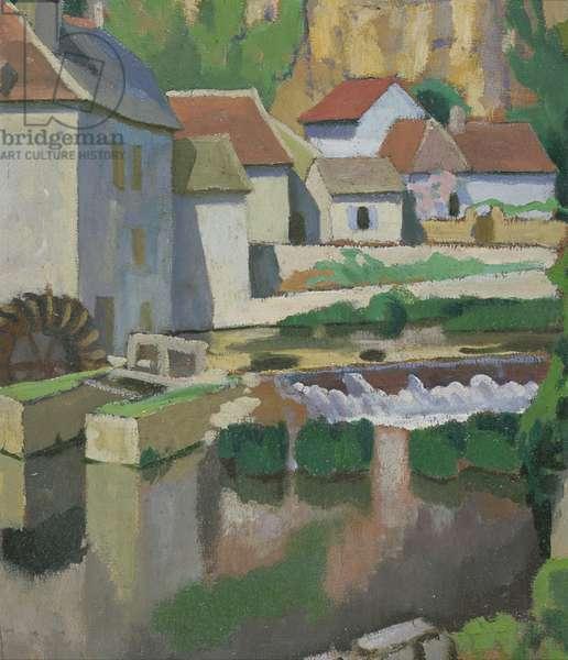 Angles-sur-l'Anglin, 1912 (oil on panel)