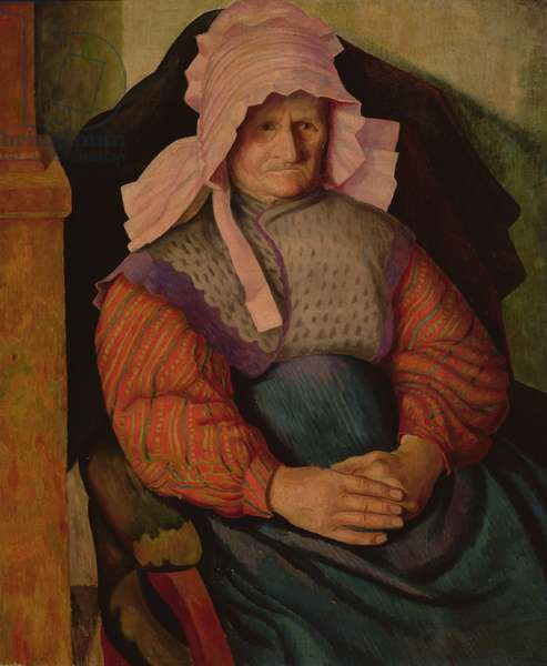Mrs Box, 1919 (oil on canvas)