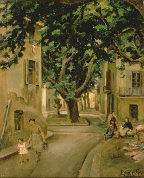 The Place d'Aumole (oil on canvas)