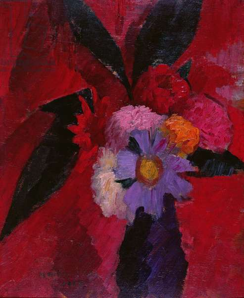 Flowers, 1917 (oil on canvas)