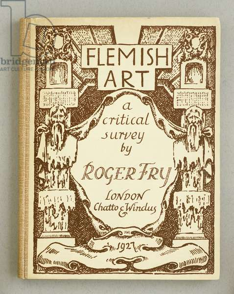 Front Cover for  'Flemish Art', by Roger Fry, 1927 (colour litho)