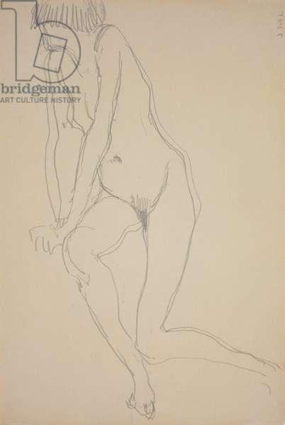 Nina Hamnett, c.1917 (pencil on paper)