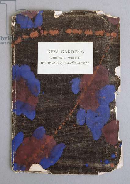 Front Cover for 'Kew Gardens', by Virginia Woolf with woodcuts by Vanessa Bell, 1919 (colour litho)