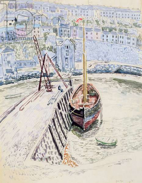 The 'Sans Pareil' in Brixham Harbour, c.1931 (w/c on paper)
