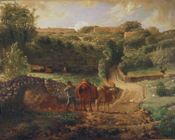 The Cousin Hamlet at Greville, c.1865-73 (oil on canvas)