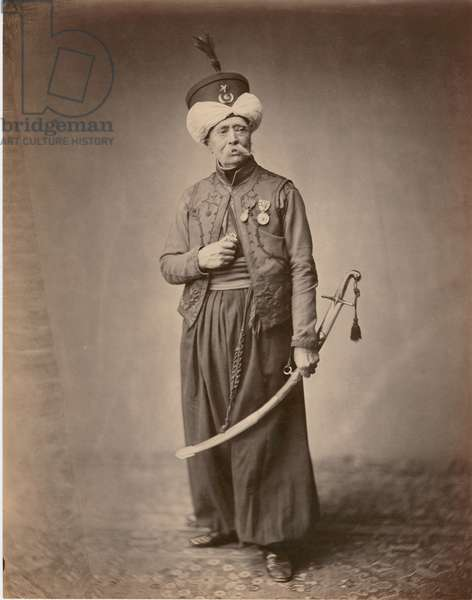 M. Ducel, Mameluke de la Garde, 1860 (b/w photo)