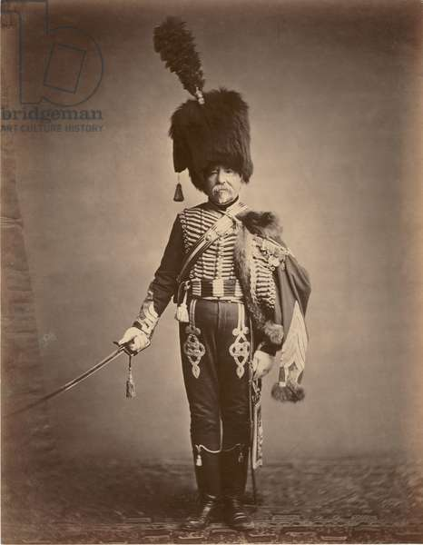 Quartermaster Fabry of the 1st Hussars, 1860 (b/w photo)