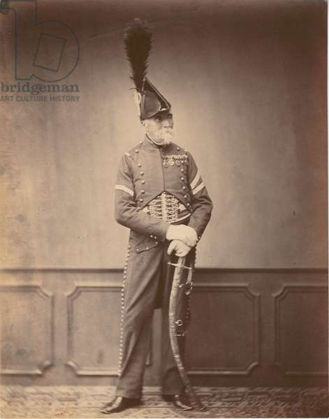 M. Dupont, Fourier of the 1st Hussars, 1860 (b/w photo)