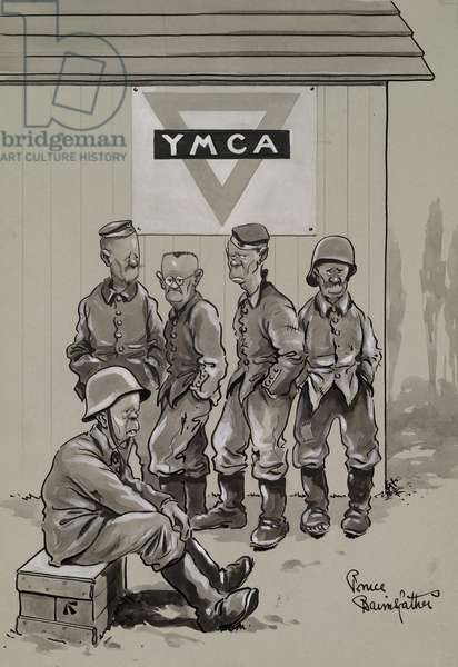 Why M.C.A.?, c.1918 (ink & wash on paper)