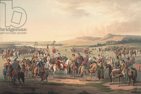 Turkish Cavalry, 1809 (coloured engraving)