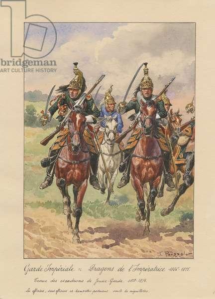 Garde Impériale - Dragons de l'Impératrice, 1806-1815, 1945 (w/c on paper)